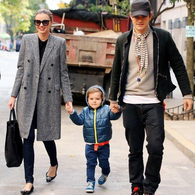 Орландо Блум и Миранда Керр с их сыном Флинном