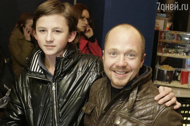 Евгений Стычкин с сыном Алексеем