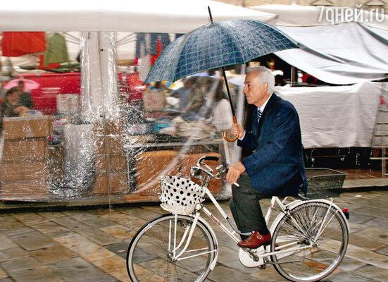 Для истинных велолюбителей дождь не помеха