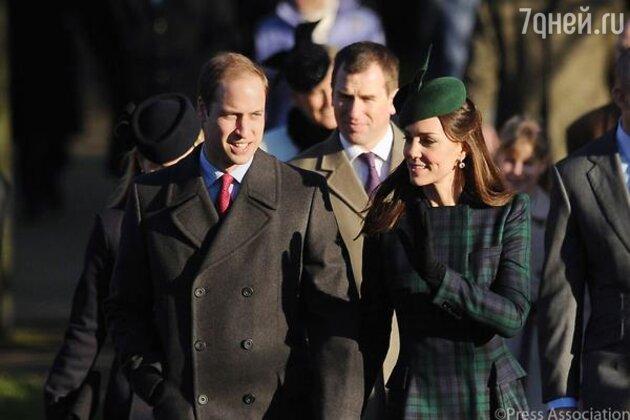 Кейт Миддлтон и принц Уильям перед крещением дочери
