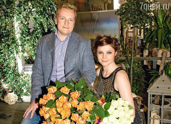 Екатерина с мужем Денисом...