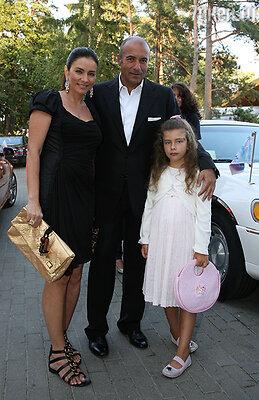 Игорь Крутой с женой и дочерью