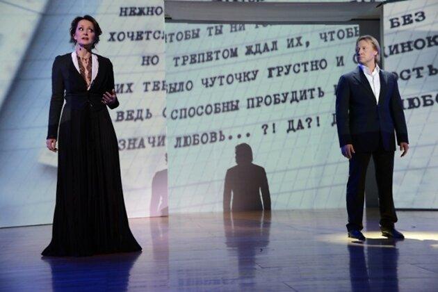 Дмитрий Харатьян и Ольга Кабо в спектакле «Танец любви»