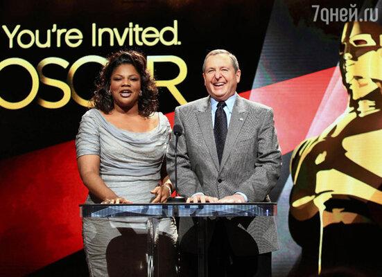 Церемонию представления номинантов на премию «Оскар» провели президент киноакадемии Том Ширак и актриса Мо`Ник