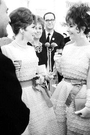 Элизабет Тейлор и Джина Лоллобриджида, 1961 год