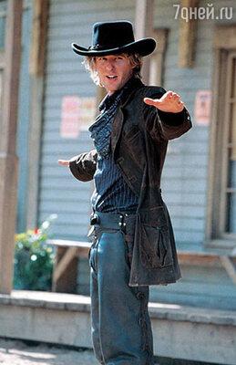 Оуэн Уилсон в роли грабителя поездов Роя О'Бэннона. «Шанхайский полдень». 2000 год