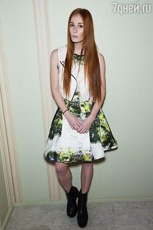 Александра Федорова на модном показе LUBLU Kira Plastinina