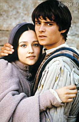 Леонард Уайтинг  и Оливия Хасси в фильме Франко Дзеффирелли «Ромео и Джульетта»,  1968 год
