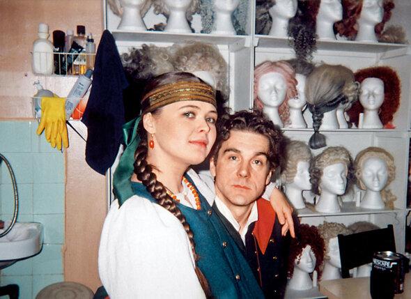 С Сергеем Маковецким на съемках фильма «Русский бунт»