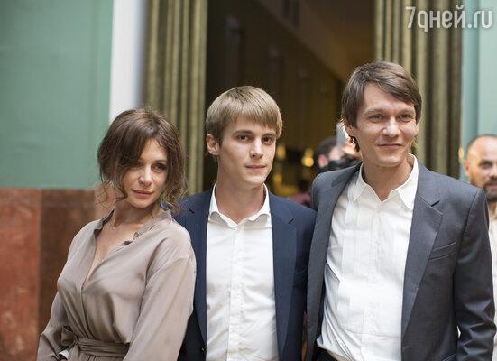 Оксана Фандера и Филипп Янковский с сыном