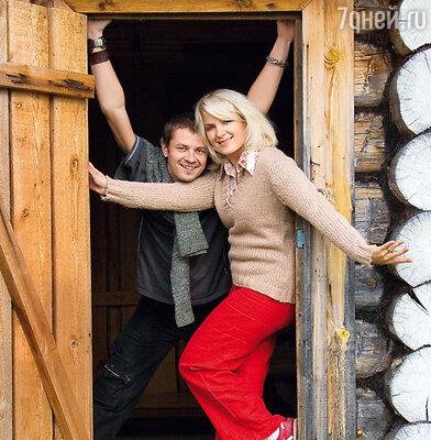 Мария Порошина с мужем Ильей Древновым