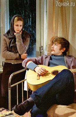 С Сергеем Прохановым в фильме «Молодая жена». 1978 г.