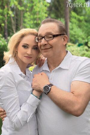 Максим Дунаевский  с женой Мариной