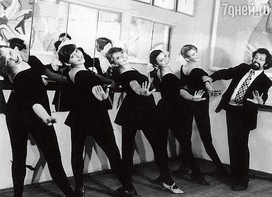 В училище искусств на занятиях по народному танцу. 1979 г.