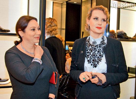 С Ренатой Литвиновой на открытии бутика «Chanel». 2009г.