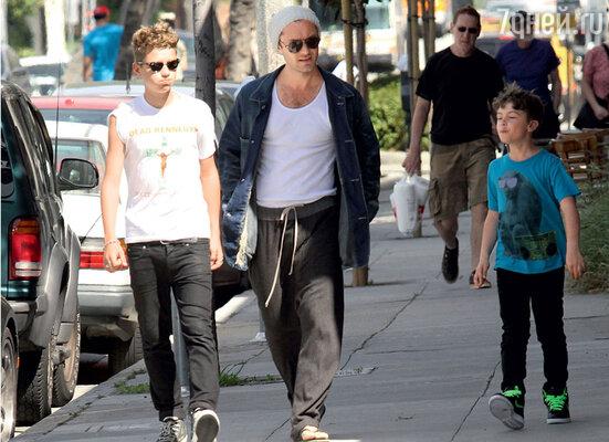 Старший сын Джуда Рафферти считает отца «чудаком и занудой». Лос-Анджелес, 2011 г.