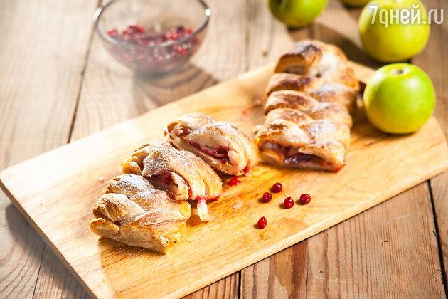 Пирог с яблоками и клюквой: рецепт десерта