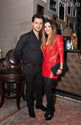 С мужем после концерта в одном из московских клубов. 2013 г.