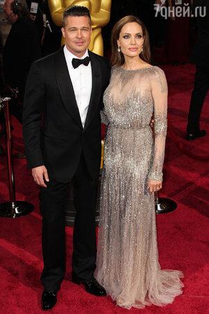 Брэд Питт и Анджелина Джоли на церемонии «Оскар-2014»