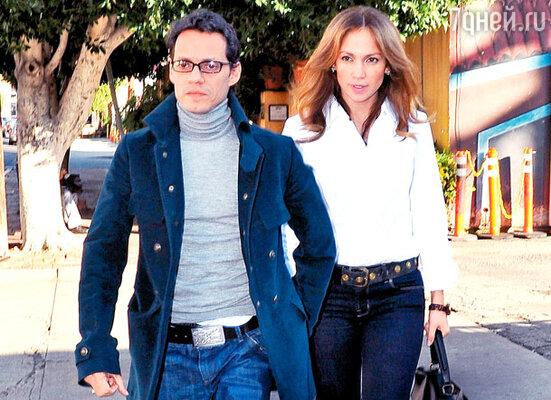 Дженнифер Лопес с мужем Маром Энтони