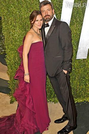 Бен Эффлек с женой Дженнифер Гарнер. 2014 г.