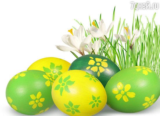 Яйца, крашенные березовыми листьями