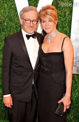 Стивен Спилберг с женой Кейт Кэпшоу