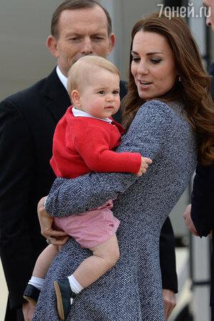 Кейт Миддлтон с сыном принцем Джорджем