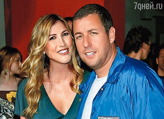 Адам Сэндлер и его жена Джеки