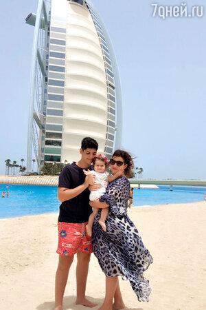 С сыном Михаилом и дочерью Маргаритой