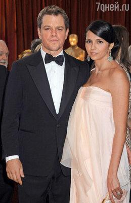 Мэтт с женой Лучаной