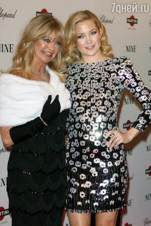 Кейт Хадсон с матерью Голди Хоун