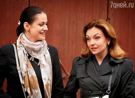 С Аней Ковальчук в сериале «Тайны следствия»