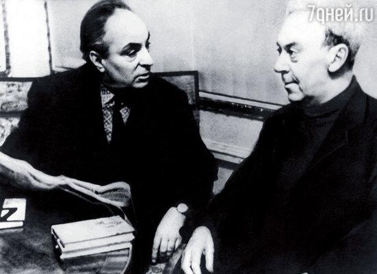 Иосиф Хейфиц снял фильм «Дорогой мой человек» по роману моего деда, писателя Юрия Германа (справа)