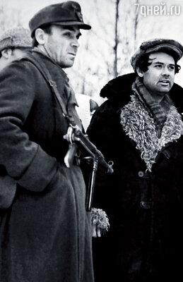 Владимир Заманский и Алексей Герман на съемках картины «Проверка на дорогах»