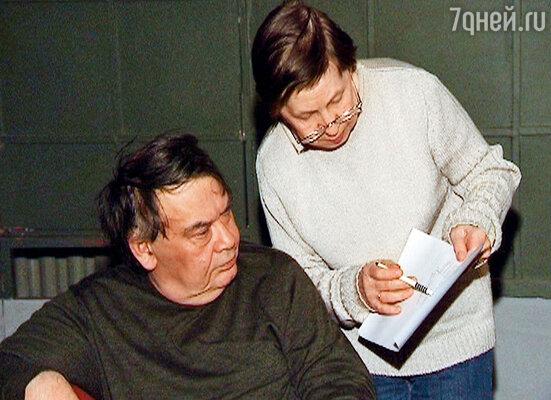 Алексей Герман и Светлана Кармалита во время работы над очередным сценарием