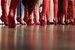 Все модели на показе Fendi вышли на подиум исключительно в красных сапогах