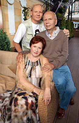 Моя дружная семья: Слава и сын Миша, единственный внук Михаила Пуговкина