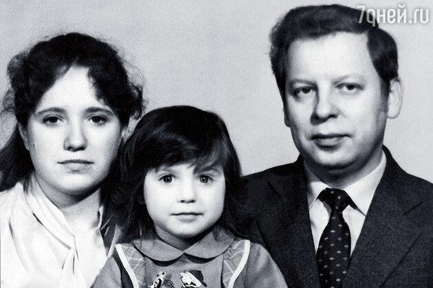 Ирина Слуцкая с родителями