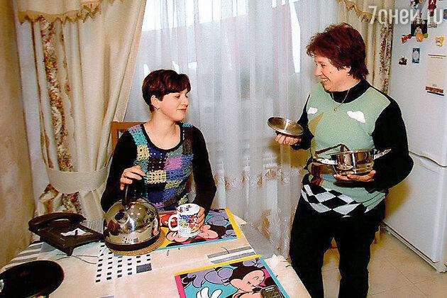 Ирина Слуцкая  мамой