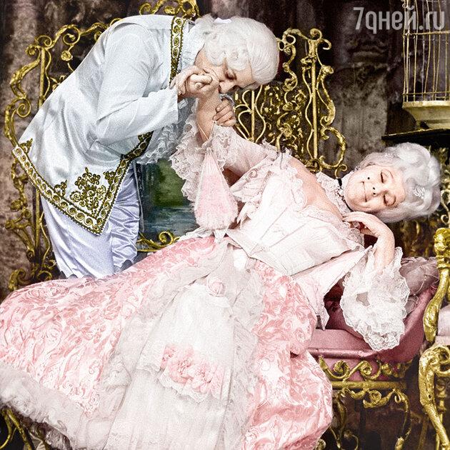 Вера Васильева с Александром Ширвиндтом в спектакле «Безумный день, или Женитьба Фигаро». 1974 г.