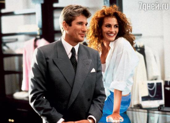 Роль в фильме «Красотка», где Джулия снялась вместе с Ричардом Гиром, сделала ее любимицей миллионов во всем мире, 1990 г.