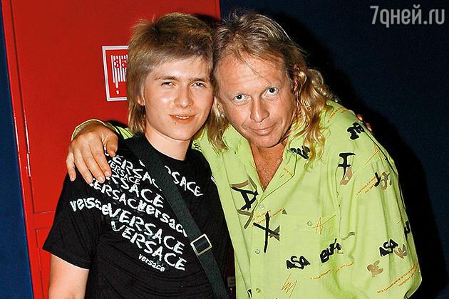 Крис Кельми с сыном Кристианом