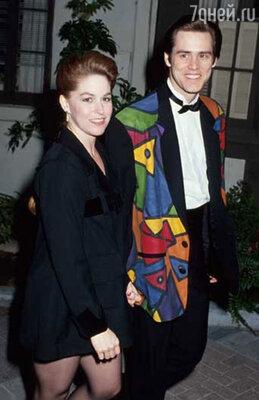 Джим Керри и Мелисса Уомер,  1993 год
