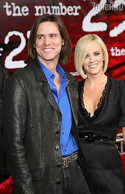 Джим Керри и Дженни Маккарти, 2007 год