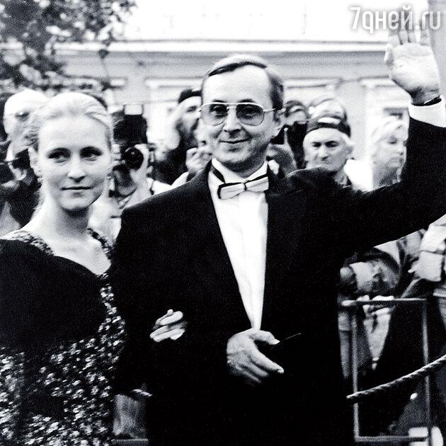 Николай Бурляев c женой