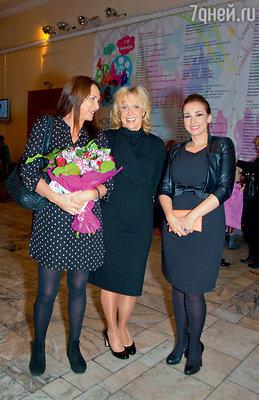 Татьяна Лютаева, Елена Яковлева иАнфисаЧехова на премьере фильма «Пять звезд»