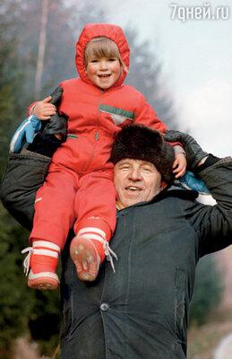 Лиза с дедом