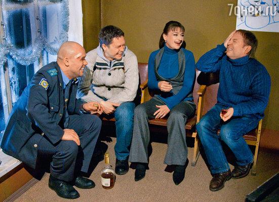 Максим Аверин, Денис Рожков, Анастасия Мельникова и Андрей Федорцов