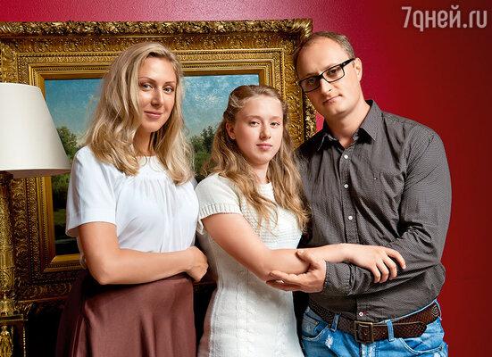 С Аней и ее дочкой Настей
